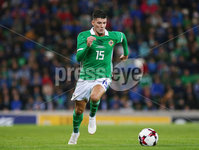 Press Eye Belfast - Northern Ireland 11th September 2018. International Challenge match at the National Stadium at Windsor Park in Belfast.  Northern Ireland Vs Israel. . Northern Ireland\'s Jordan Jones . Picture by Jonathan Porter/PressEye.com
