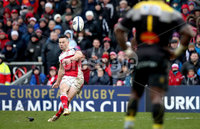 European Rugby Champions Cup Round 5, Kingspan Stadium, Belfast 13/1/2018. Ulster vs La Rochelle. Ulster\'s John Cooney kicks a penalty . Mandatory Credit ©INPHO/Ryan Byrne