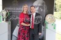 Press Eye - Belfast - Northern Ireland - 8th September 2018 - . Sarah and Richard Sherry pictured at the Archbishop's Palace in Armagh along with friends and family of Dr Rory Best OBE to witness the sportsman's conferment with the Freedom of the Borough of Armagh City, Banbridge and Craigavon..  . Photo by Kelvin Boyes / Press Eye..