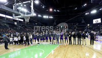 Press Eye - Belfast -  Northern Ireland - 01st December 2017 - Photo by William Cherry/Presseye. Holy Cross before Friday afternoons Basketball Hall of Fame Belfast Classic game at the SSE Arena, Belfast.