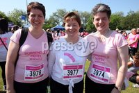 Northern Ireland- 27th May 2012 Mandatory Credit - Photo-Jonathan Porter/Presseye.  Cancer Research UK 5K Race For Life at the Stormont Estate in east Belfast.  Left to right.  Anne Doran, Catherine McConville and Mary Gorman from Lisburn.