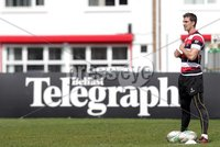 ©Press Eye Ltd Northern Ireland -26th April 2012. Mandatory Credit - Picture by Darren Kidd/Presseye.com .  Ulster training at Ravenhill ahead of Saturday's Heineken Cup semi final against Edinburgh at the Aviva Stadium in Dublin.. Ulster\'s Ruan Pienaar
