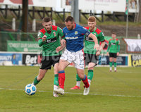 Danske Bank Premiership, The Oval, Belfast, Northern Ireland. 1/5/2021. Glentoran vs Linfield FC . Glentoran   Ruaidhi Donnelly and Linfield Jamie Mulgrew  . Mandatory Credit INPHO/Presseye/Brian Little