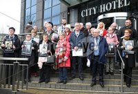 Press Eye Northern Ireland. Thursday 14th March 2019. . Public Prosecution Service announcement of persecutions over Bloody Sunday . . Families at the City Hotel following the briefing by the PPS.. Photo Lorcan Doherty/Presseye