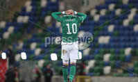 Press Eye-Belfast-Northern Ireland -12th November 2020. National Football Stadium at Windsor Park, Belfast. . 12/11/2020. Northern Ireland Kyle Lafferty after  defeat against  Slovakia       during Thursday  night\'s UEFA Euro 2020  Play-off Final  at the National Football Stadium at Windsor Park,Belfast.. Mandatory Credit PressEye