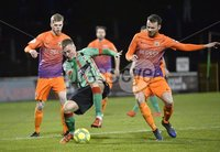 . Danske Bank Premiership,The Oval Belfast 14/11/2017. Glentoran v Glenavon. Mandatory Credit ©INPHO/Stephen Hamilton. Glentorans Dylan Davidson in action with Glenavons Andy hall