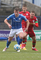 Danske Bank Premiership, Showgrounds, Coleraine , Co. Derry. Northern Ireland 1/5/2021. Coleraine V Cliftonville. Coleraines Stephen Lowry and Clidftonvilles Daniel Kearns.. Mandatory Credit INPHO/Presseye/Lorcan Doherty.