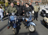 13th April 2019. Hundreds of pictured at the annual Easter egg ride out in aid of the Royal Children\'s hospital.. Tuesday Night ride out crew from Belfast pictured ahead of todays run.. Mandatory Credit -Presseye/Stephen Hamilton .