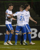 4th May 2021. Danske Bank Irish league,The Oval,Belfast.. Glentoran v Coleraine .  Coleraines  Steven Lowry  celebrates after he fires home his sides equalising goal. Mandatory Credit Inpho/Stephen Hamilton