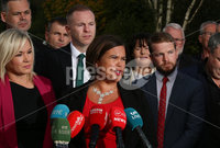 Press Eye - Belfast - Northern Ireland - 11th September 2019 - Picture Matt Mackey / Press Eye.. Sinn Fins annual Away Day meeting will take place in the Carrickdale Hotel, Co. Louth on Wednesday 11th September.. The meeting is attended by elected representatives from across the island and will address the issues of Brexit, Irish Unity, Sinn Fins alternative budget and Dil priorities.. Party President Mary Lou McDonald