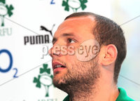 Ireland Rugby Press Conference, The Crowne Plaza Queenstown, New Zealand 18/6/2012. Ireland player Dan Tuohy during the press conference. Mandatory Credit ©INPHO/Billy Stickland
