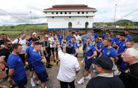 Press Eye - Belfast -  Northern Ireland - 28th May 2018 - Photo by William Cherry/Presseye. Northern Ireland players visit the Panama Canal on Monday morning as part of their summer tour to Panama and Cost Rica. The Canal is a 77.1-kilometre ship canal in Panama that connects the Atlantic Ocean to the Pacific Ocean. Photo by William Cherry/Presseye