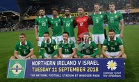 PressEye-Northern Ireland- 11th September  2018-Picture by Brian Little/ PressEye. Northern Ireland team against  Israel during  Tuesday\'s  Friendly International Challenge match at the National Football Stadium at Windsor Park.. Picture by Brian Little/PressEye .