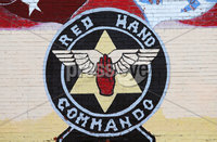 Press Eye Belfast - Northern Ireland 12th September 2017. Loyalist paramilitary group the Red Hand Commando has made an application to be removed from the UK\'s list of proscribed terrorist organisations.  The RHC was formed in 1972 in the Shankill area of west Belfast.  It had close links to the UVF and waged a paramilitary campaign until the loyalist ceasefires of 1994.. General view of a Red Hand Commando mural in the Shankill estate area of west Belfast. . Picture by Jonathan Porter/PressEye.com.