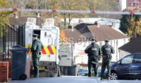 Press Eye - Belfast - Northern Ireland - 7th November 2018. The scene on Slieveban Avenue in the Andersontown area of west Belfast where there is an ongoing security alert. . Picture by Jonathan Porter/PressEye