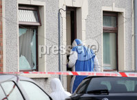 Press Eye - Belfast - Northern Ireland - 13th September 2019. The scene on Upper Greenwell Street in Newtownards, Co. Down, where a shooting took place at a house in the early hours of Friday morning.  One man escaped injury with the property being damaged. . Picture by Jonathan Porter/PressEye