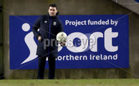 Danske Bank Premiership, Mourneview Park, Co. Armagh 3/4/2018 . Glenavon vs Linfield. Mandatory Credit ©INPHO/William Cherry. Linfield manager David Healy