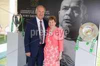 Press Eye - Belfast - Northern Ireland - 8th September 2018 - . Arnold Hatch and Olive Hatch pictured at the Archbishop's Palace in Armagh along with friends and family of Dr Rory Best OBE to witness the sportsman's conferment with the Freedom of the Borough of Armagh City, Banbridge and Craigavon..  . Photo by Kelvin Boyes / Press Eye..