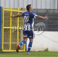Danske Bank Premiership, Showgrounds, Coleraine 4/8/2018. Coleraine vs Warrenpoint. Coleraine\'s Eoin Bradley celebrates scoring a goal. Mandatory Credit ©INPHO/Lorcan Doherty