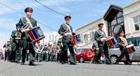 ©Press Eye Ltd Northern Ireland - 12th July  2012. Somme Memorial band pictured  at the 12th of July celebrations in Donaghadee County Down.. Mandatory Credit - Picture by Stephen Hamilton/Presseye.com.