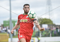 4th August 2018. Danske Bank Irish premier league match between Glentoran and Cliftonville at The Oval in Belfast.. Cliftonvilles Joe Gormley.  Mandatory Credit: Stephen Hamilton /Inpho