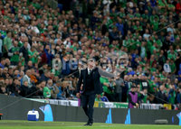 Press Eye - Belfast - Northern Ireland - 9th September 2019 - Picture Matt Mackey / Press Eye.. EURO qualifier 2020 match at the National Stadium at Windsor Park, Belfast. Northern Ireland Vs Germany.. Northern Ireland\'s Michael O\'Neill.