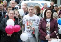Press Eye Belfast - Northern Ireland 7th October 2017. Mental health march in Belfast city centre organised by campaigner Philip McTaggart, who lost his son Philip to suicide in 2003.  The march follows the death of 31-year-old Stephen Ferrin who died in September. He had previously lost his two brothers to suicide. . Picture by Jonathan Porter/PressEye.com.