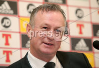 Press Eye - Belfast - Northern Ireland - 12th March 2019. Northern Ireland manager Michael O\'Neill announces his squad, at the National Stadium at Windsor Park, ahead of the two Euro 2020 qualifying matches at home to Estonia and Belarus later this month. . . Picture by Jonathan Porter/PressEye