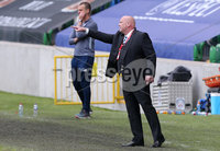 ress Eye - Belfast - Northern Ireland - 27th July 2020 - . Ballymena United FC v Coleraine FC Sadler\'s Peaky Blinder Irish Cup Semi Final at the National Football Stadium at Windsor Park.. Ballymena manager David Jeffrey. . Photo by Jonathan Porter Press Eye.