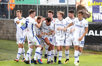 Press Eye - Danske Bank Premiership  - 12th August 2017. Dungannon Swifts v Coleraine. Photograph By Declan Roughan. Coleraine\'s Ian Parkhill scores against Dungannon.