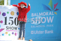 Press Eye - Belfast - Northern Ireland - 16th May 2018. First day of the 2018 Balmoral Show, in partnership with Ulster Bank, at Balmoral Park.  Jake McClurg(10) from Ballynahinch, who is showing sheep, pictured as the gates open for the 150th Balmoral show. . Picture by Jonathan Porter/PressEye