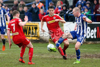 Danske Bank Premiership Play-Off, The Ballymena Showgrounds, Co. Antrim 7/4/2018 . Coleraine vs Cliftonville. Stephen Dooley scored the first goal for Coleraine. Mandatory Credit ©INPHO/Freddie Parkinson