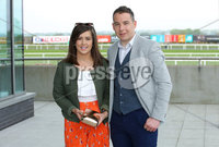 Press Eye - Belfast - Northern Ireland - 7th May 2018  - . May Day Meeting at Down Royal Racecourse.. Donna McAuley and Daniel Kille pictured at the County Down racecourse.. Photo by Kelvin Boyes / Press Eye .