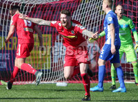 Danske Bank Premiership, Solitude, Belfast 9/9/2017 . Cliftonville vs Dungannon Swifts . Cliftonville\'s Garry Breen celebrates after he scored to make it 1-0. Mandatory Credit ©INPHO/Jonathan Porter