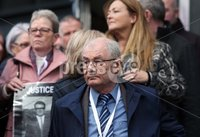 Press Eye Northern Ireland. Thursday 14th March 2019. . Bloody Sunday families leaving the City Hotel following the briefing with the Department of Public Prosecutions.. Michael McKinney, brother of Willie McKinney.. Photo Lorcan Doherty/Presseye
