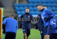 Press Eye - Belfast -  Northern Ireland - 07th October 2017 - Photo by William Cherry/Presseye. Northern Ireland\'s Oliver Norwood during Saturdays nights training session at the Ullevaal Stadion, Oslo ahead of Sundays World Cup Qualifier against Norway.   Photo by William Cherry/Presseye