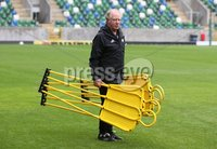 PressEye-Northern Ireland- 10th September  2018-Picture by Brian Little/ PressEye. Northern Ireland assistant manager  Jimmy Nicholl      training ahead of Tuesday Friendly International Challenge match against Israel  at the National Football Stadium at Windsor Park.. Picture by Brian Little/PressEye .