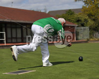 ©Presseye.com - 4th May  2012  Mandatory Credit - Picture by Mervyn McClelland/Presseye. Balmoral Bowling Club v Divis Bowling Club. John Burns (Divis)
