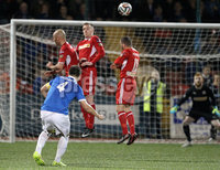 @Press Eye Ltd Northern Ireland- 2nd September 2014. Mandatory Credit -Brian Little/Presseye . Linfield Chris Hegarty freekick against Cliftonville      during Tuesday night\'s Danske Bank Premiership match at Solitude.. Picture by Brian Little/Presseye .  . . . .  . . . . .  . . .  . . . . . . . . . . . . . . . . . . . .  . . . . . . .   . . . . .  . . . . .  . .                  . . . . . . . . . . . . . . . .  . . .                   . .    .  . . . . . . . . . . . .  . . . .  . .  . . . . . . . . . . . . . . . . . . . . . . . . . . . . . . . . . . . . . . . . . . . . . . . . . . . . . . . . . . . . . . . . . . . . . . . . . . . . . . . . . . . . . . . .  . . . . . . . . . . . .