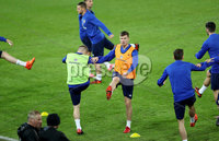 Press Eye - Belfast -  Northern Ireland - 11th November 2017 - Photo by William Cherry/Presseye. Northern Ireland\'s Paddy McNair during Saturday nights training session at St. Jakob-Park ahead of Sunday nights World Cup Play Off against Switzerland in Basel.