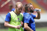 Press Eye - Belfast -  Northern Ireland - 02nd June 2018 - Photo by William Cherry/Presseye. Northern Ireland\'s Liam Boyce and Ryan McLaughlin  pictured during Saturday mornings training session at the Nuevo Estadio Nacional de Costa Rica in San Jose ahead of Sundays Friendly International against Costa Rica.. Photo by William Cherry/Presseye