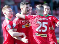Danske Bank Premiership, Solitude, Belfast 9/9/2017 . Cliftonville vs Dungannon Swifts . Cliftonville\'s Joe Gormley celebrates after he scores to make it 2-0. Mandatory Credit ©INPHO/Jonathan Porter
