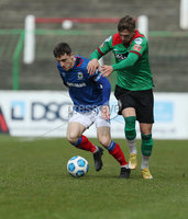 Danske Bank Premiership, The Oval, Belfast, Northern Ireland. 1/5/2021. Glentoran vs Linfield FC . Glentoran Robbie McDaid   and Linfield Joel Cooper  . Mandatory Credit INPHO/Presseye/Brian Little