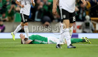Press Eye - Belfast -  Northern Ireland - 09th September 2019 - Photo by William Cherry/Presseye . Northern Ireland\'s Stuart Dallas during Monday nights European Championship Qualifier at the National Stadium at Windsor Park, Belfast.  Photo by William Cherry/Presseye