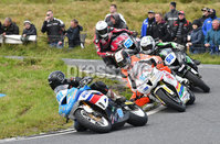 Mandatory Credit: Rowland White / PressEye. ULSTER GRAND PRIX. Venue: Dundrod. Date: 12th August 2017. Class: SUPERSPORT RACE. Caption: Christian Elkin ahead of Conor Cummins, Adam McLean and James Cowton