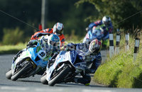 PressEye-Northern Ireland- 12th  August   2017-Picture by Brian Little/ PressEye.  Dan Kneen  TYCO BMW S1000RR leads Dean Harrision Silcone Engineering Kawasaki  around  Tornagrough  during the Around A Pound Superbike Race at the MCE Insurance Ulster Grand Prix, around the 7.4  mile Dundrod Circuit . Picture by Brian Little/PressEye  .