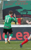 Danske Bank Premiership, The Oval, Belfast, Northern Ireland. 1/5/2021. Glentoran vs Linfield FC . Glentoran Robbie McDaid misses a penalty   . Mandatory Credit INPHO/Presseye/Brian Little