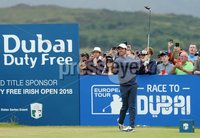 2018 Dubai Duty Free Irish Open, Ballyliffin Golf Club, Co. Donegal 8/7/2018. Rory McIlroy on the first tee. Mandatory Credit ©INPHO/Presseye/Kelvin Boyes
