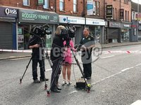 Press Eye - Belfast - Northern Ireland - 8th August 2018. Possible gas explosion at a property on the Upper Newtownards Road, Ballyhackamore on the Upper Newtownards Road from Sandown Road to Eastleigh Drive.  . Picture Joel Hindes  / by Press Eye