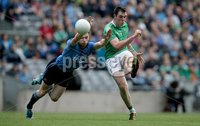 GAA Football All Ireland Senior Championship Quarter-Final, Croke Park, Dublin 2/8/2015. Dublin vs Fermanagh. Dublin\'s Paddy Andrews with Ryan Jones of Fermanagh. Mandatory Credit ©INPHO/Donall Farmer